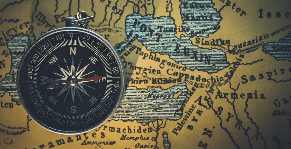 compass, travel, values
