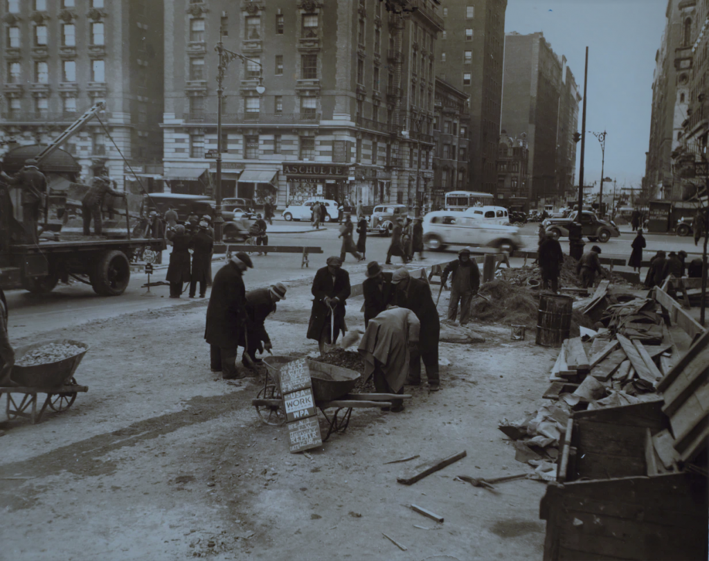 Greyscale photography of Manhattan: 86th Street (West) - Broadway, 1936
